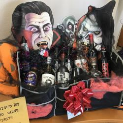 Dracula theme display at our Summerland Branch featuring trunk organizer given when opening a Free Checking Account